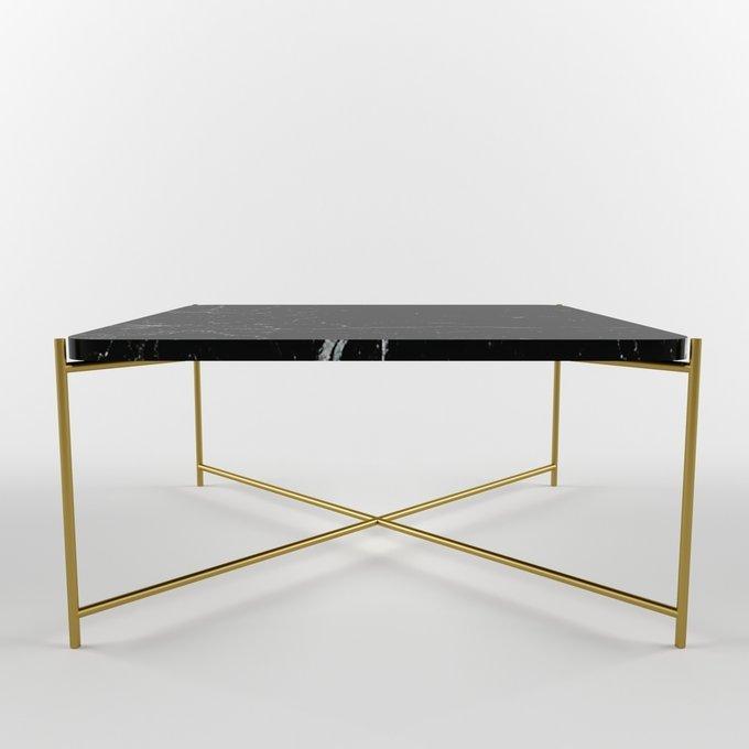 Журнальный столик с мраморной столешницей KRIT gold
