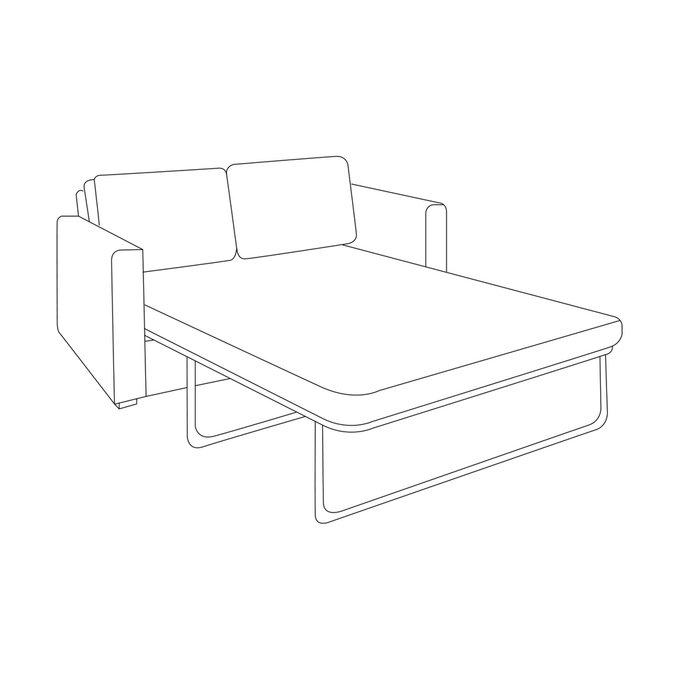 Трехместный диван-кровать Агата L синего цвета