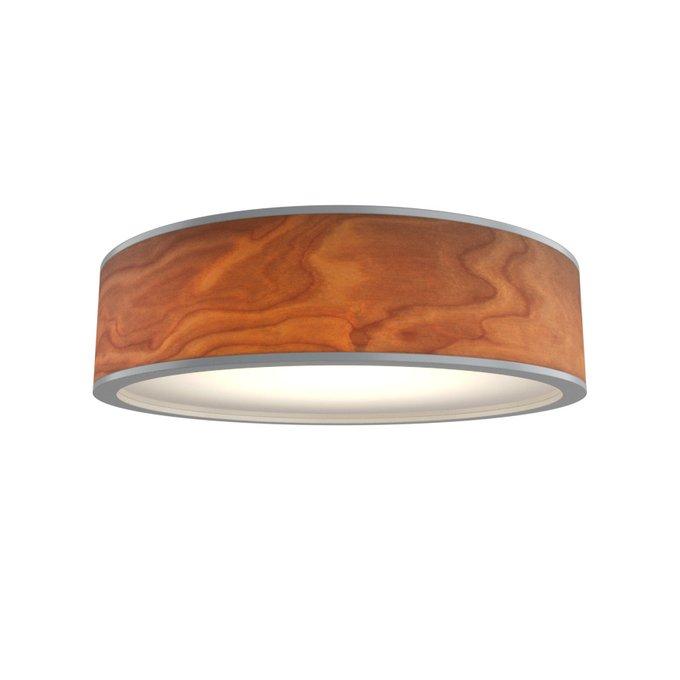Потолочный светильник Юпитер из натурального дерева