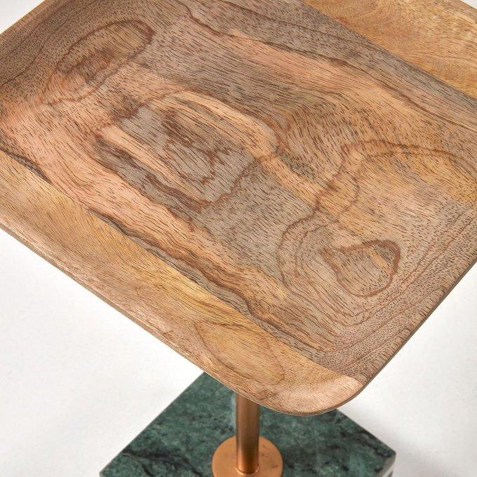 Кофейный столик Lleyton  с мраморным основанием