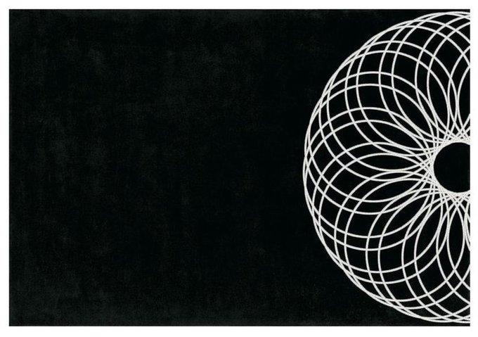 Ковер Piove черно-белого цвета 200x300