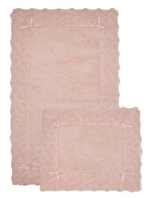 Набор из двух ковриков для ванной из хлопка трозового цвета