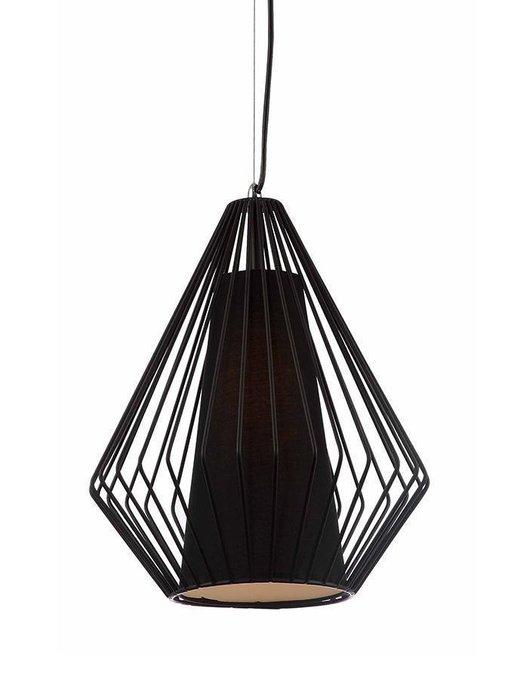 Подвесной светильник с плафоном из металла черного цвета