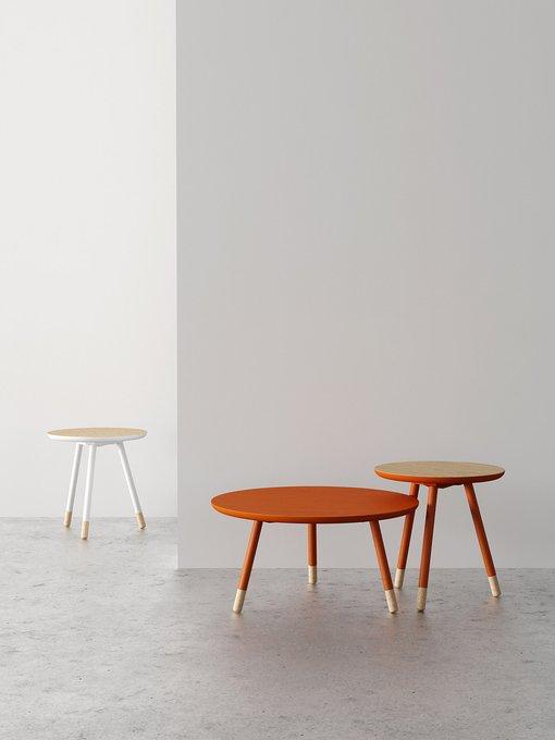 Журнальный столик Bison серо-коричневого цвета