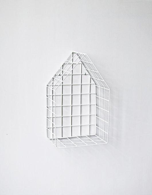 Полка-домик White M из металла белого цвета