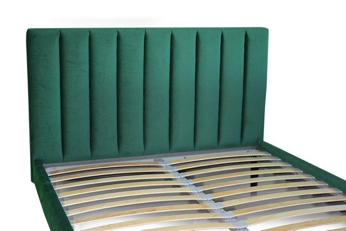 Кровать Клэр зеленого цвета 140х200 с ящиком для хранения