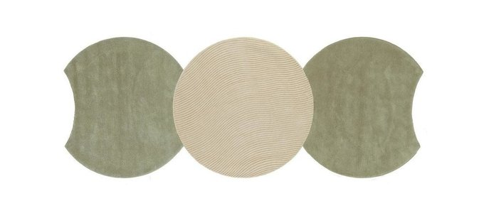Круглый ковер Ego зеленого цвета 150 см
