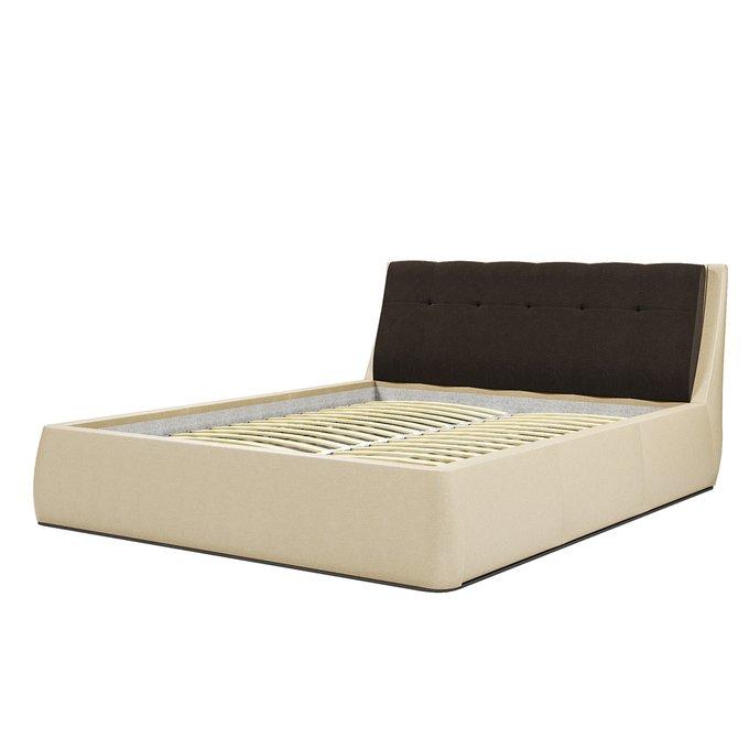 Кровать Гесиона 180х200 бежевого цвета с подъемным механизмом