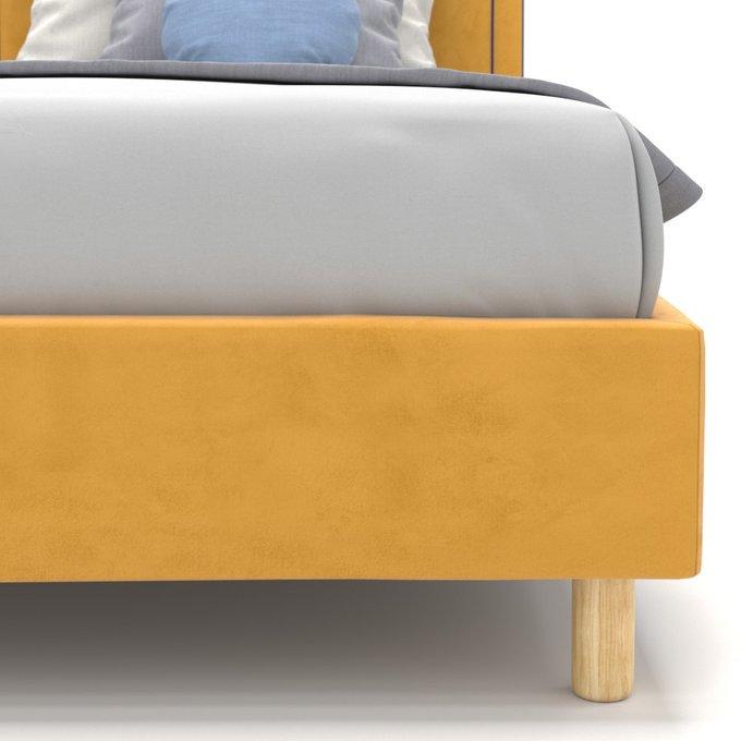 Односпальная кровать Kylie Kids на ножках желтого цвета 100х200