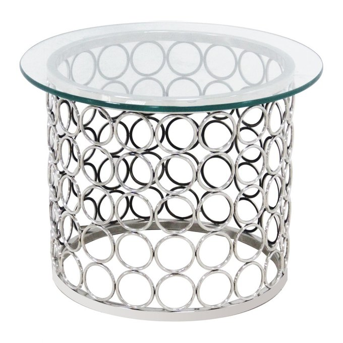 Зеркальный кофейный столик Tempo с стеклянной столешницей