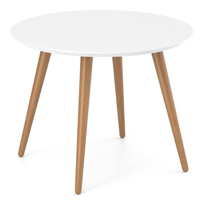 Обеденный стол Ronda Round белого цвета