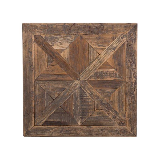 Стол Tolix Parquet с деревянной столешницей