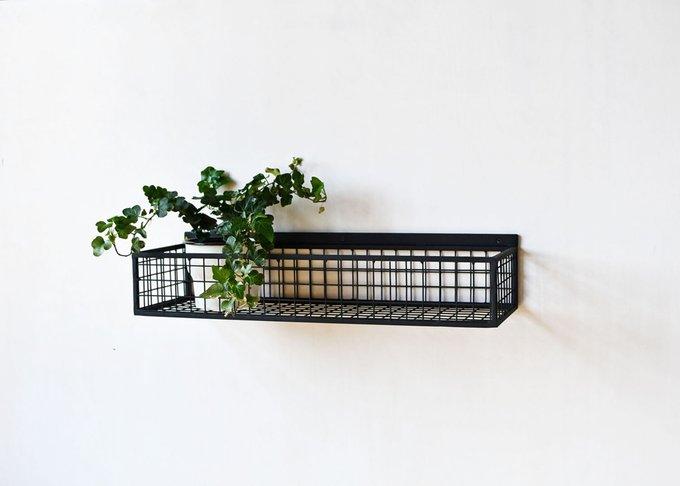 Полка Box из металла черного цвета