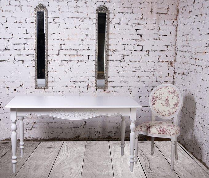 Стол прямоугольный Снежный Прованс из массива бука