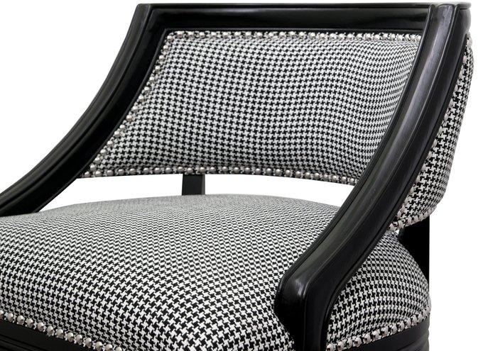 Кресло Charlie черно-белого цвета