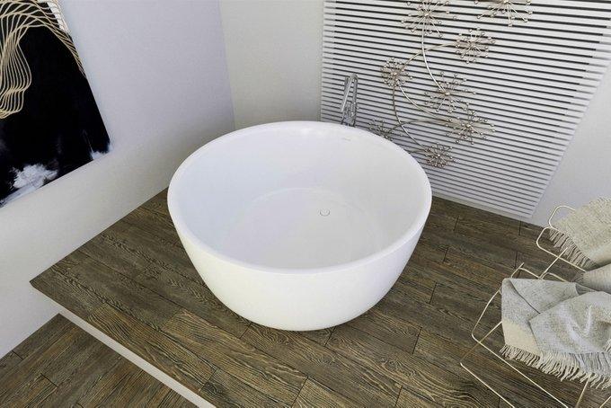 Каменная Ванна Purescape белая в виде чаши