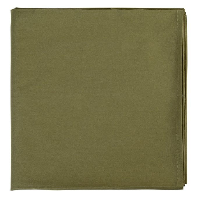 Скатерть на стол Wild оливкового цвета 170х170
