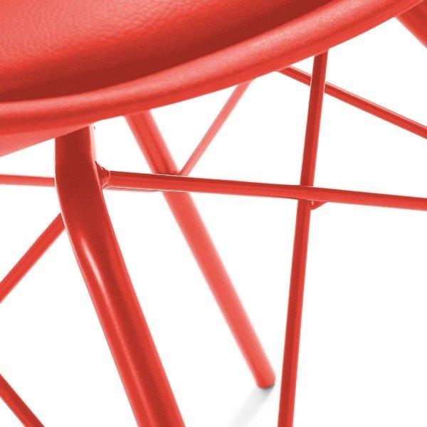 Стильный обеденный стул Lars красного цвета