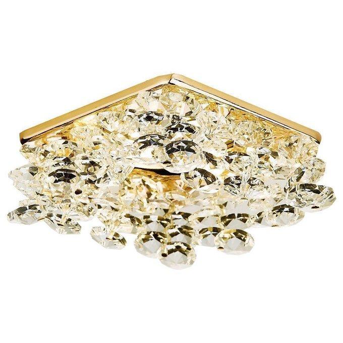 Встраиваемый светильник Crystal золотого цвета