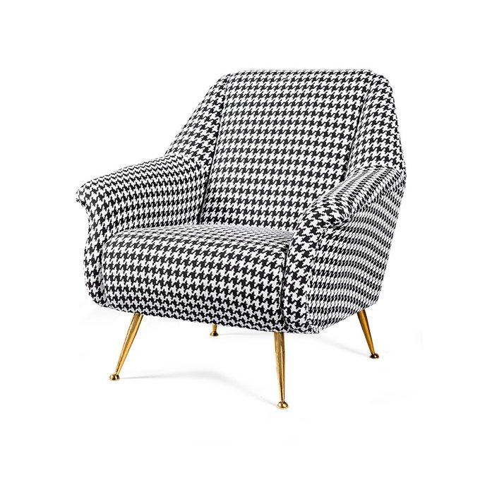 Кресло Caledonian с черно-белым принтом