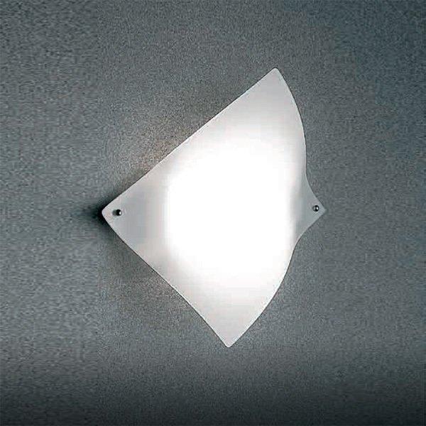 Настенный светильник Zonca с плафоном из матового стекла белого цвета