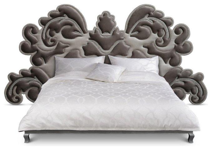 Кровать Atlantis серого цвета 180х200