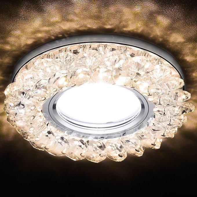Встраиваемый светодиодный светильник Led с плафоном из стекла