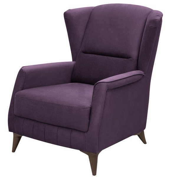 Кресло Эшли фиолетового цвета