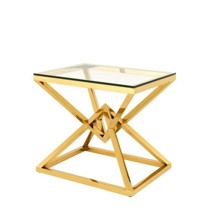 Приставной столик Connor со стеклянной столешницей