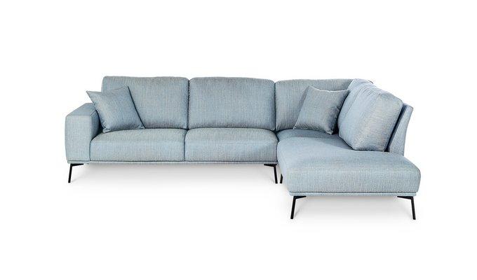Угловой диван Mondo голубого цвета