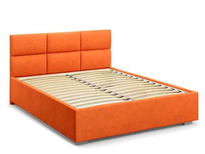 Кровать Bolsena без подъемного механизма 180х200 оранжевого цвета