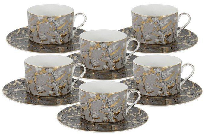 Чайный набор Злата из костяного фарфора