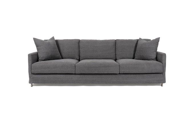 Прямой диван Carelia темно-серый