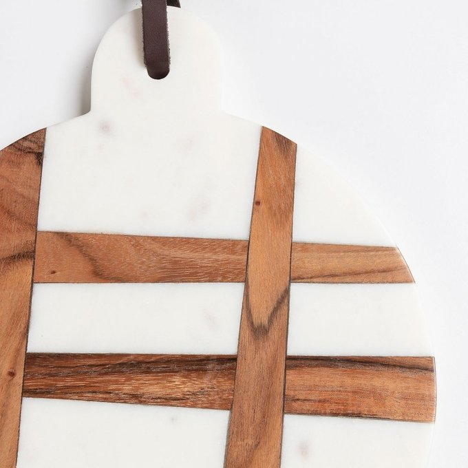 Разделочная доска Bulacan из дерева и мрамора