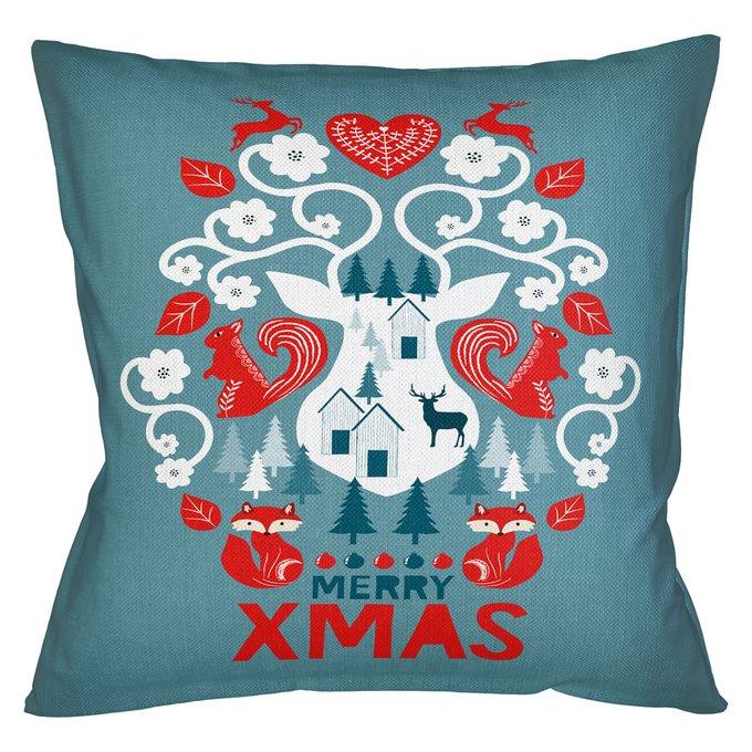 Декоративная арт подушка Новогоднее настроение версия 14