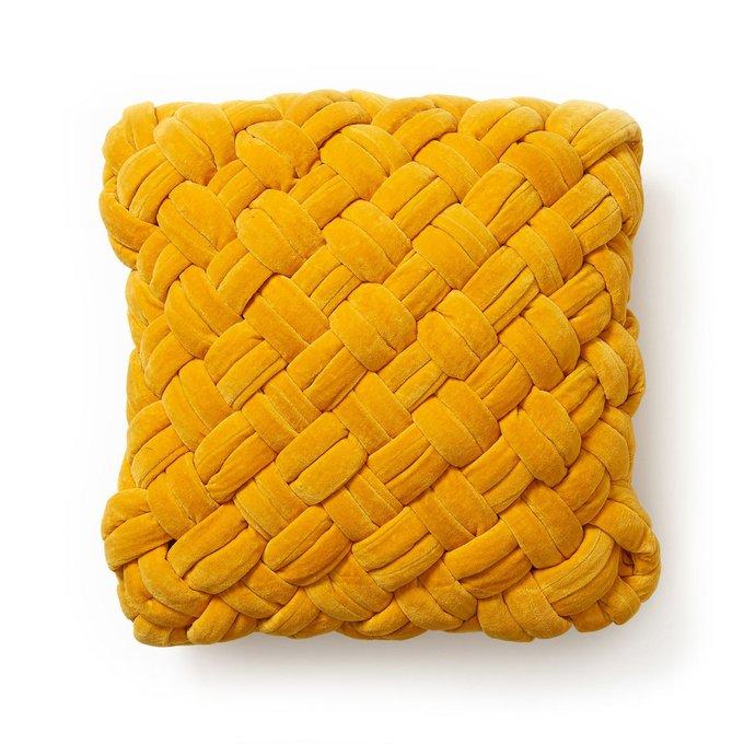 Чехол на подушку Shallow горчичного цвета