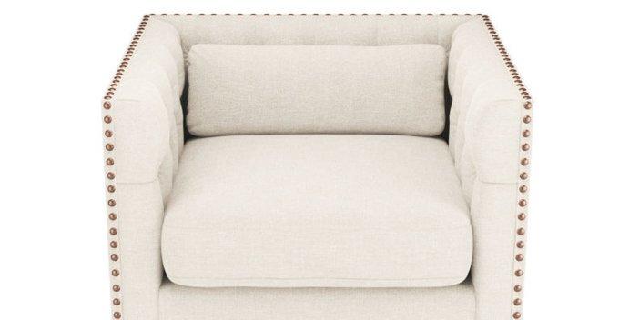 Кресло Chesterfield Florence белое