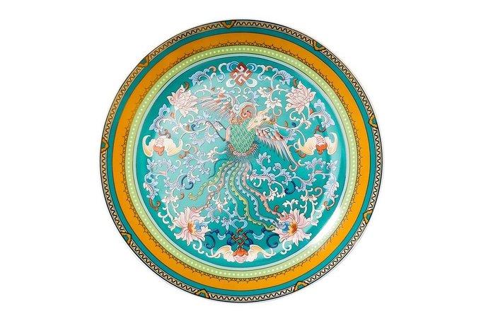 Десертная тарелка голубого цвета