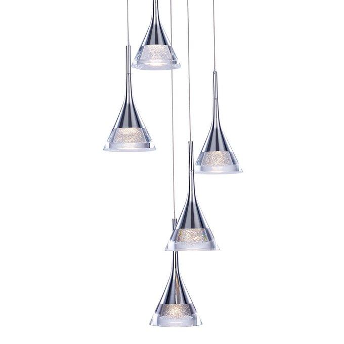 Подвесной светильник lluminati Gioiello из металла и прозрачного стекла