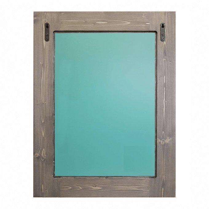 Настенное зеркало Синие перья 65х80