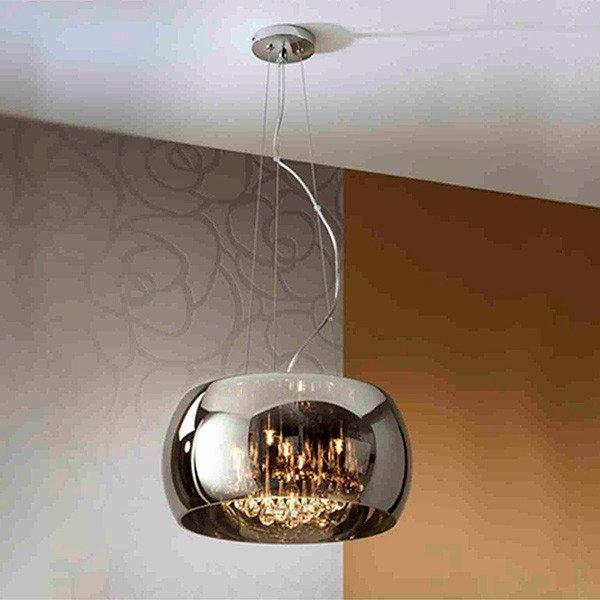 Подвесной светильник Illuminati с плафоном из плотного дымчатого стекла