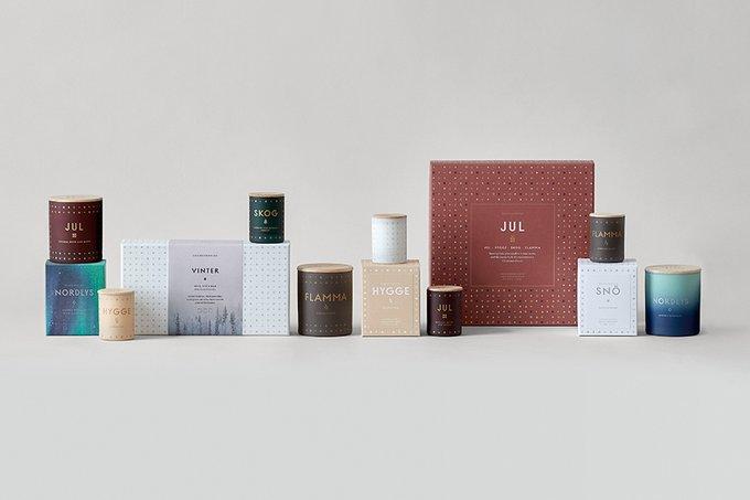 Набор из четырех ароматических свечей Jul