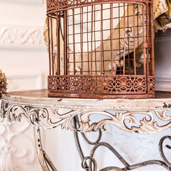 Настенная декоративная полка Вавилон версия L коричневого цвета