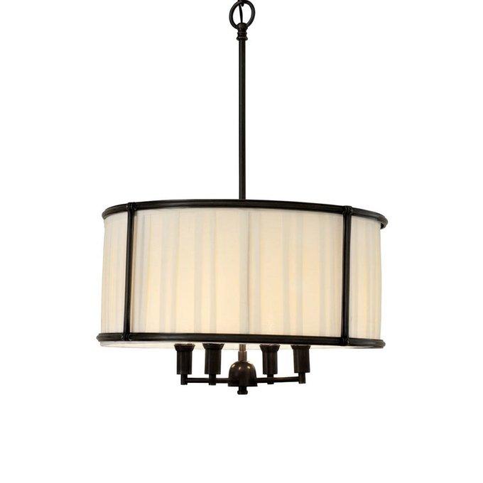 Подвесной светильник Hammond black с абажуром белого цвета