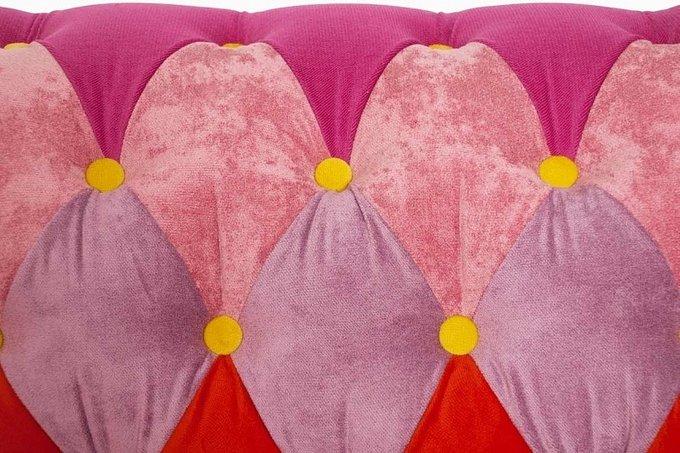 Диван Пэчворк Зефир с разноцветной обивкой