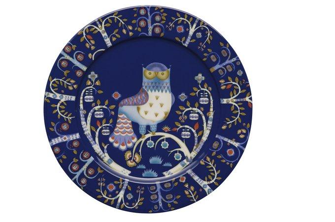 Блюдце Taika темно-синего цвета