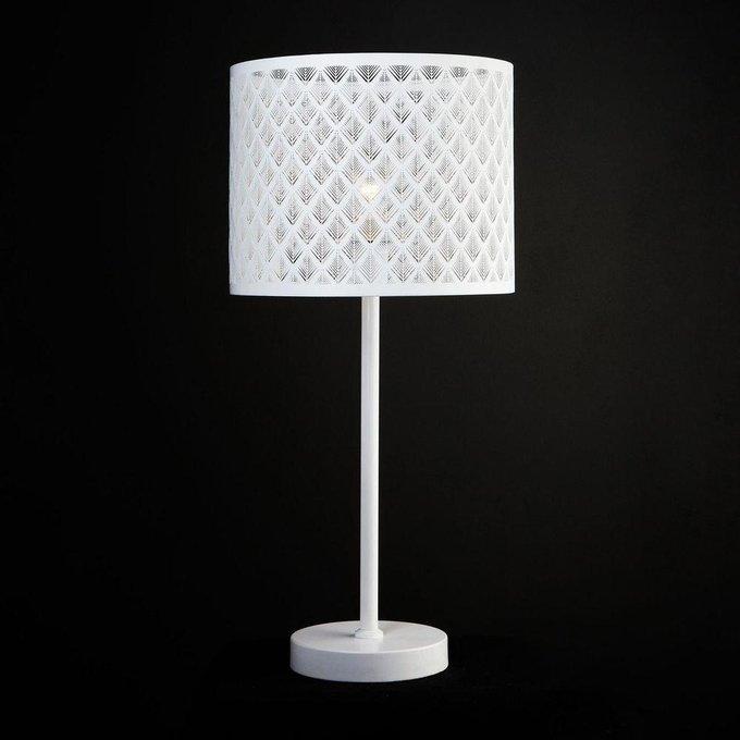 Настольная лампа Snowy белого цвета