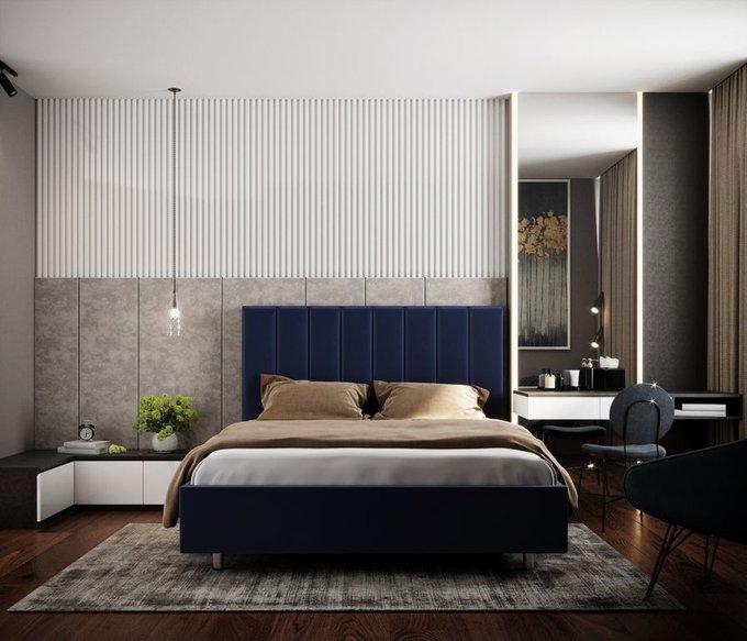 Кровать Параллель 180х200 серого цвета