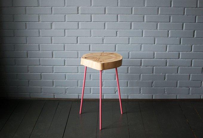 Журнальный Стол Tree 23 с пастельно-розовыми ножками