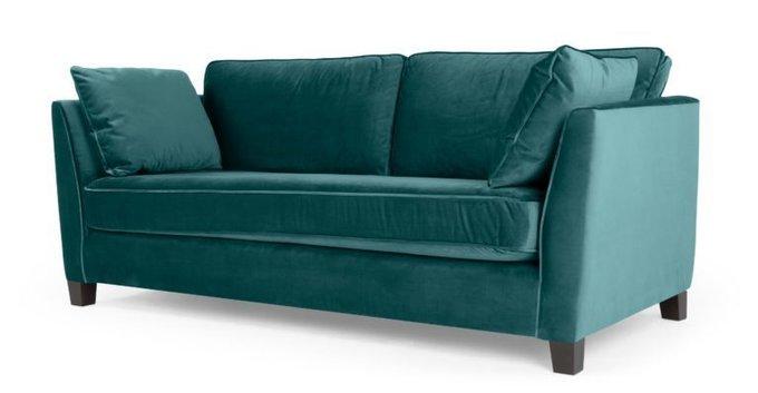 Трехместный раскладной диван Wolsly бирюзовый